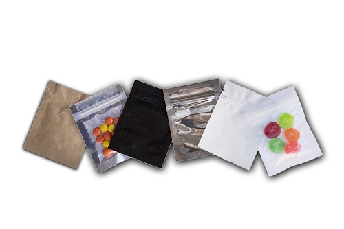 Montage of 3. x 4.5 lay flat bags.