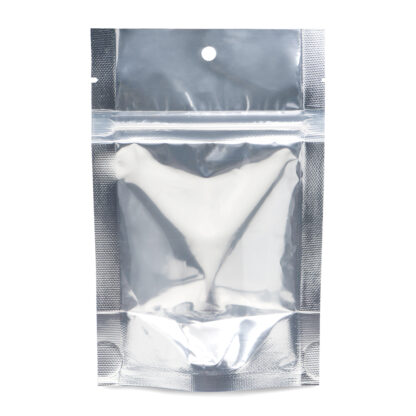 NYSM Clear/Silver 4×6×2.5 – 100 Pack Stand Up Pouch Food Bags