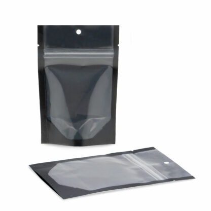 NYSM Clear/Black 4×6×2.5 – 100 Pack Stand Up Pouch Food Bags