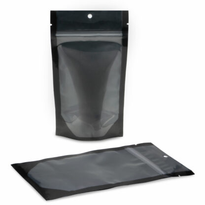 NYSM Clear/Black 5×8.5×3 – 100 Pack Stand Up Pouch Food Bags