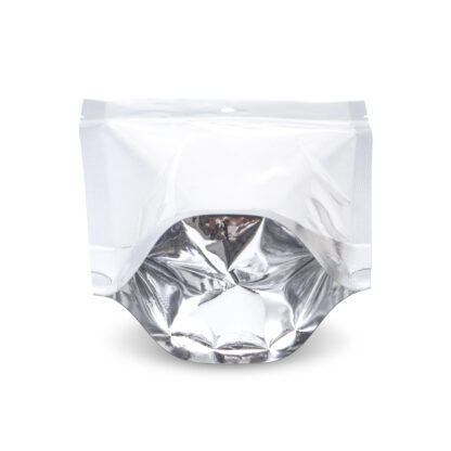 NYSM Clear/Silver 5×8.5×3 – 100 Pack Stand Up Pouch Food Bags