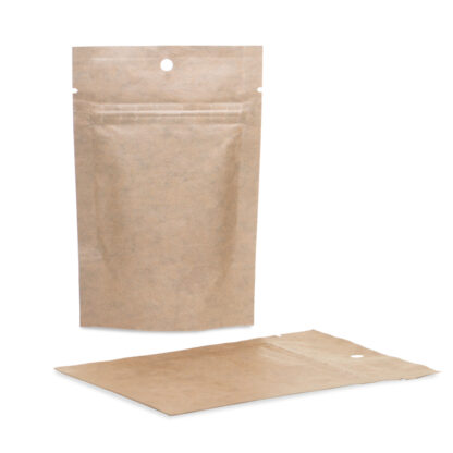 Kraft Mylar 4×6×2.5 – 100 Pack Stand Up Pouches Food Bags