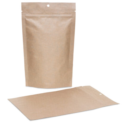 Kraft Mylar 6×9.5×3.5 – 100 Pack Stand Up Pouch Food Bags