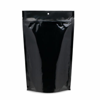 SuperBlack 7.5×11.5×3.5 – 100 Pack Stand Up Pouch Mylar Food Bags