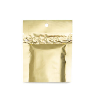 UpTown Funk Gold 3.5×4.5 – 100 Pack 2 Seal Flat Pouch Mylar Food Bags